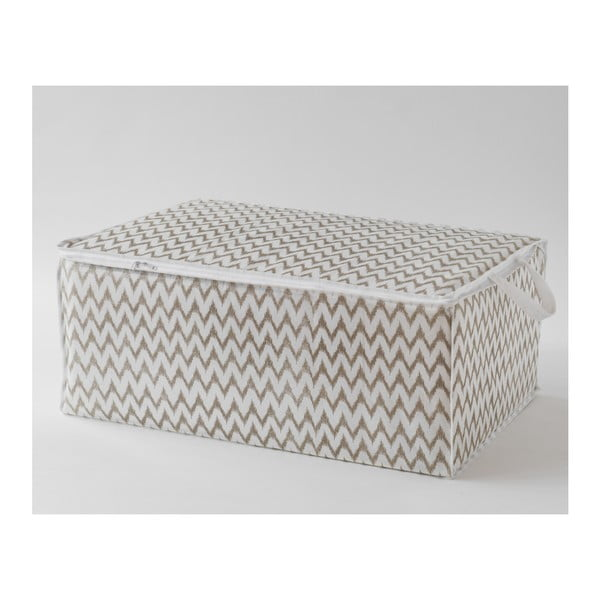 Biely úložný box Compactor, 70 x 50 cm