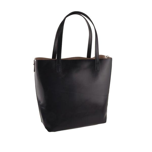 Tmavomodrá kožená kabelka Florence Tangor