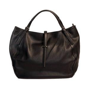 Čierna kožená kabelka Andrea Cardone 2001 Black