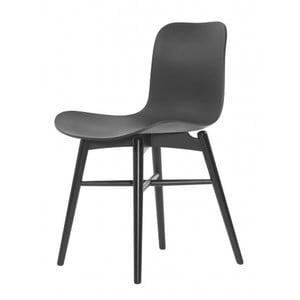 Čierna jedálenská stolička NORR11 Langue Dark