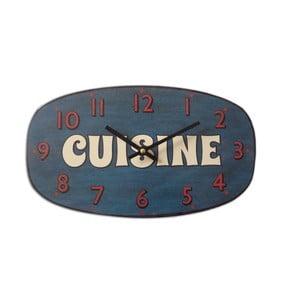 Nástenné hodiny Cuisine Bleu