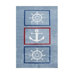 Modrý detský koberec Happy Rugs Anchor, 120x180cm