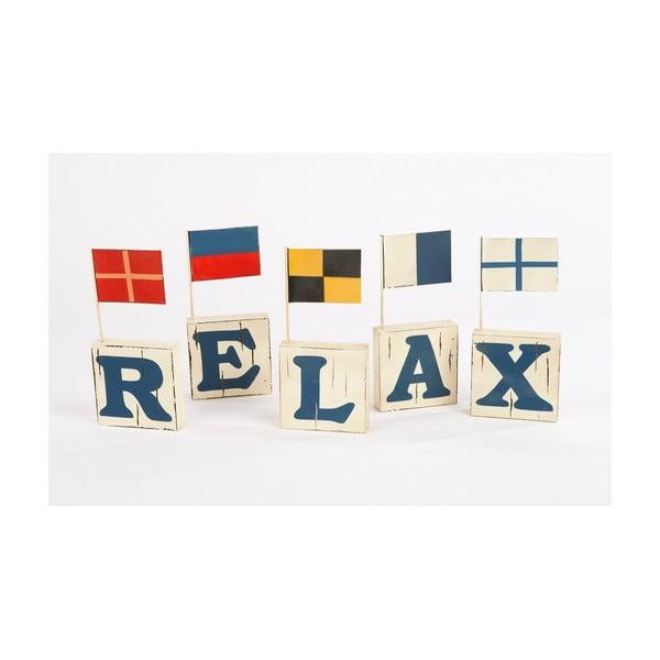 Sada 5 písmen s vlajkami Relax