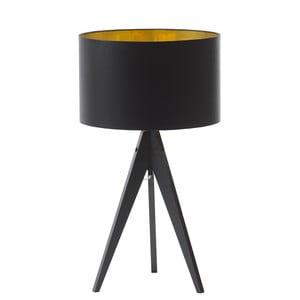 Stolná lampa Artist Black Golden/Birch, 40x33 cm