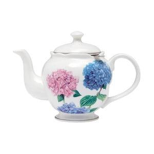 Kanvička z kostného porcelánu so sitkom na sypaný čaj Ashdene Pastel Hydrangeas, 750ml