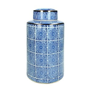 Modrá kameninová dóza HF Living, výška 30 cm