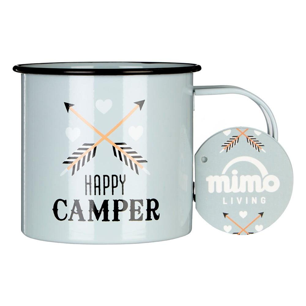 Smaltovaný hrnček Premier Housewares Happy Camper, 350 ml