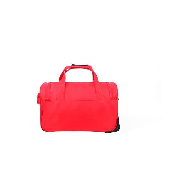 Cestovná taška na kolieskach Voyage Red, 43 l