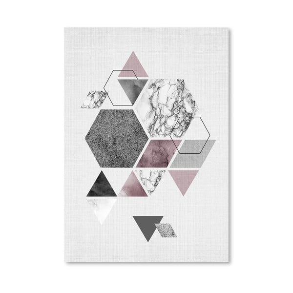 Plagát Geometric Hexagons