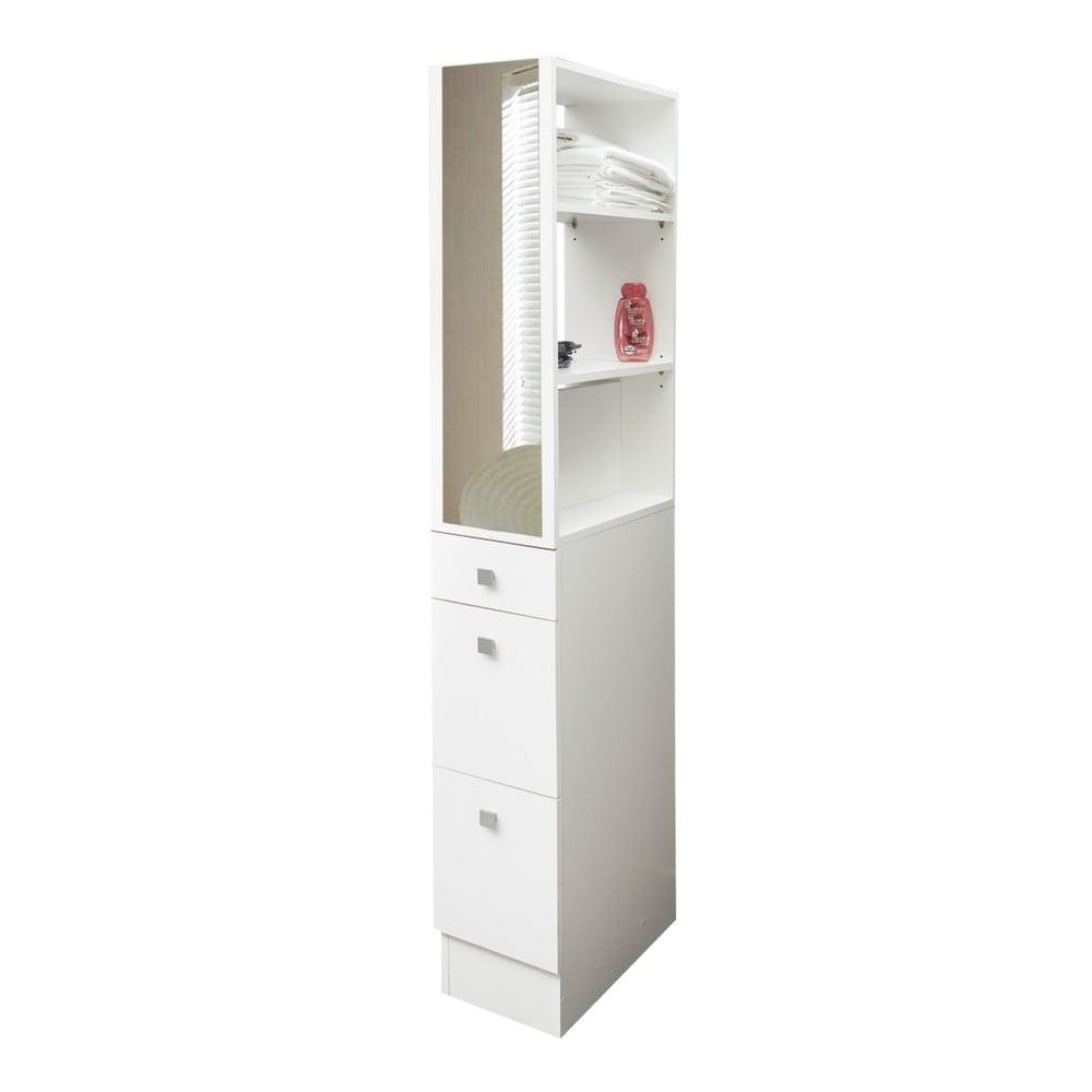 Biela kúpeľňová skrinka Symbiosis Combi, šírka 24,3 cm