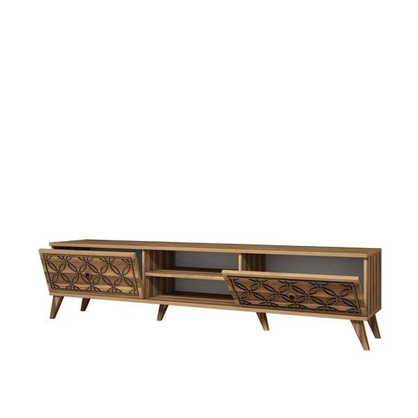 Televízny stolík Class Walnut, dĺžka 180 cm