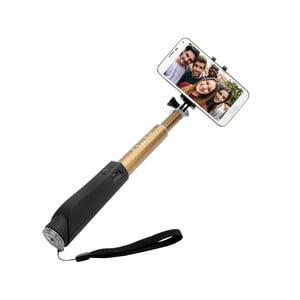 Zlatá teleskopická selfie tyč FIXED v luxusnom hliníkovom prevedení