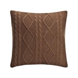 Pletená obliečka na vankúš Kosem Brown, 43x43 cm