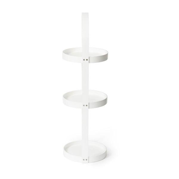 Biely drevený okrúhly trojposchodový stojan Wireworks Mezza
