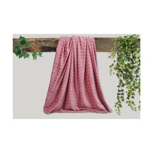 Ružová deka Dolce Bonita Embos, 200 × 135 cm