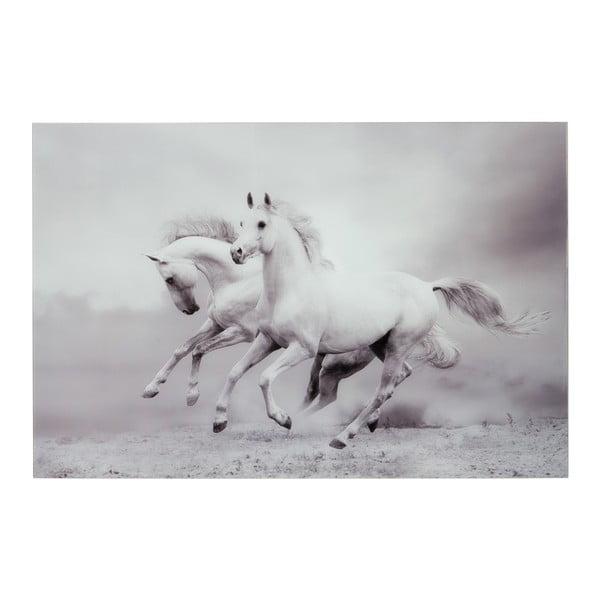 Sklenený obraz Two Horses, 100x150 cm