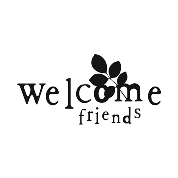 Dekoratívna samolepka Welcome Friends, 30x60 cm