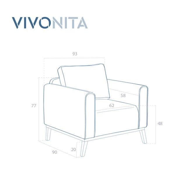 Mentolovozelené kreslo Vivonita Milton