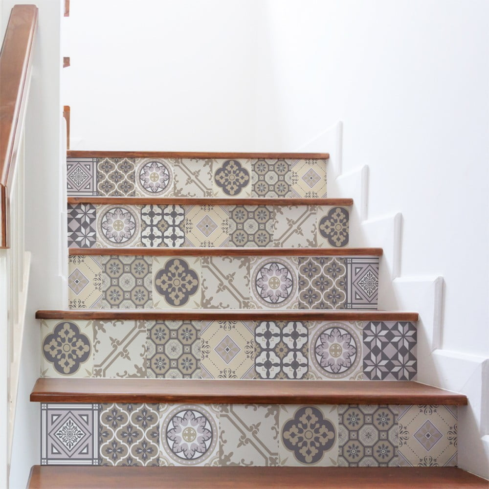 Sada 2 samolepiek na schody Ambiance Champetre, 105 × 30 cm