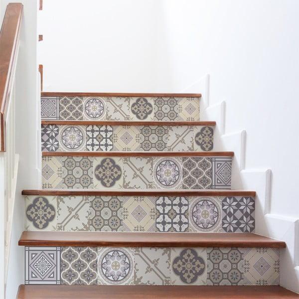 Sada 2 samolepiek na schody Ambiance Champetre, 105×15 cm