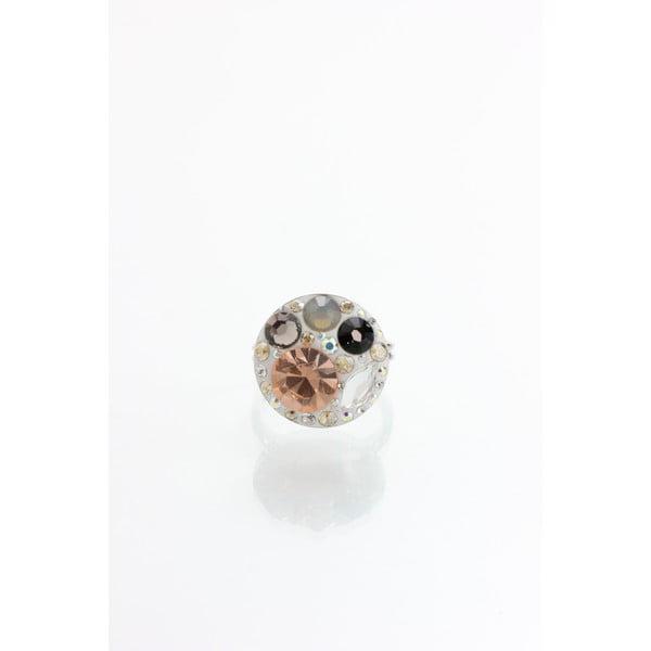 Prsteň Laura Bruni so Swarovski Elements Taupe, 18 mm