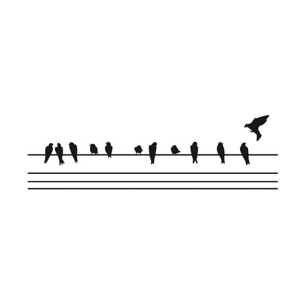 Samolepka Fanastick Birds on the Wire