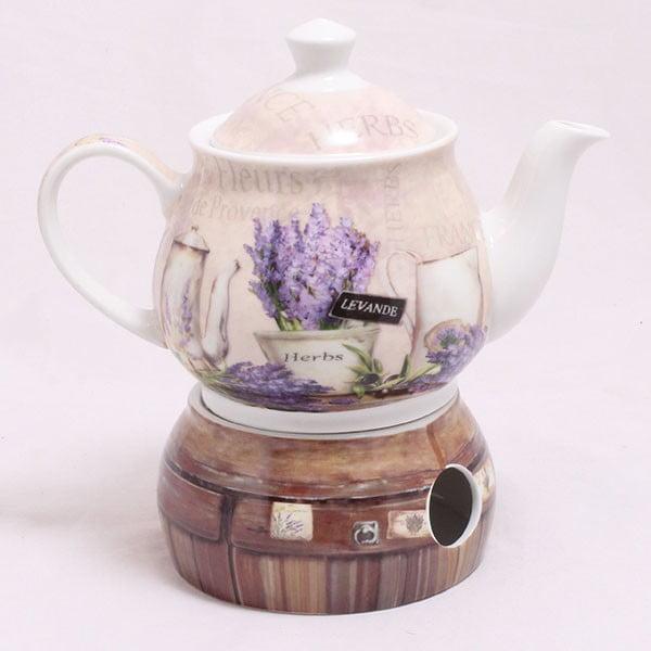 Kanvice s ohrievačom Lavender Herbs