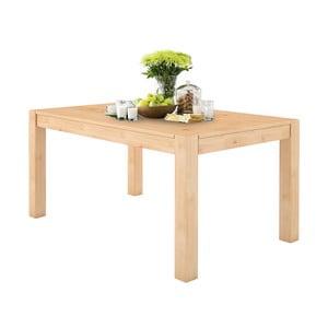 Jedálenský stôl z masívneho borovicového dreva Støraa Monique, 76 x 140 cm