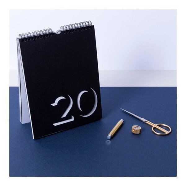 Čierno-biely nástenný kalendár Flip