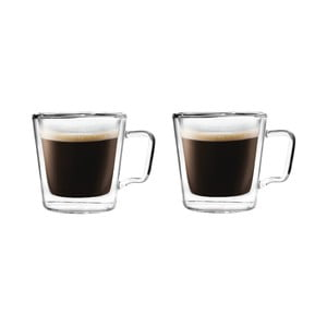 Sada 2 pohárov na espresso z dvojitého skla Vialli Design, 80 ml