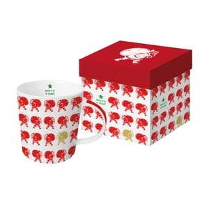 Porcelánový hrnček s vianočným motívom v darčekovom balení PPD Scandic Santa Red, 350 ml