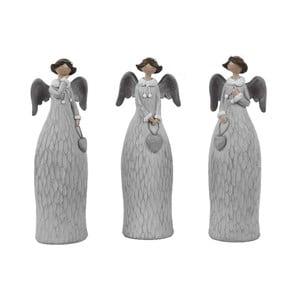 Sada 3 dekoratívnych anjelov Ego dekor Dalia, výška 21 cm
