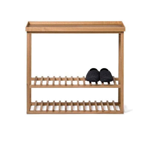 Polica na topánky/úložný stolík s prírodnou doskou Wireworks Hello Storage