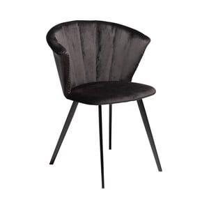 Čierne kreslo DAN–FORM Denmark Merge Velvet