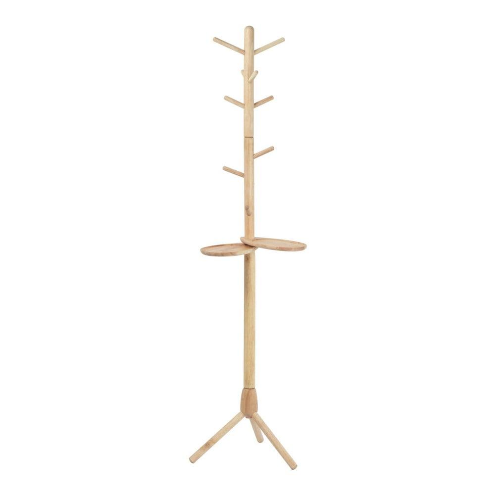 Vešiak z masívneho kaučukového dreva Furniteam Design, výška 175 cm