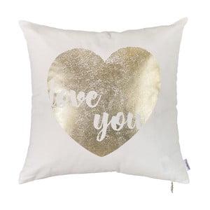 Obliečka na vankúš Apolena Gold Heart, 45x45cm