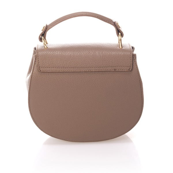 Béžová kožená kabelka Giorgio Costa Dollaro