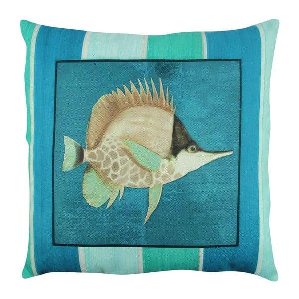 Vankúš s výplňou Blue Fish, 43x43 cm