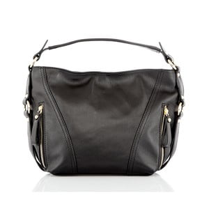 Čierna kožená kabelka Glorious Black Lane