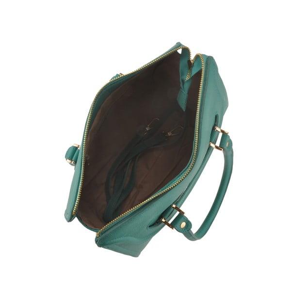 Kožená kabelka Grafias, zelenomodrá