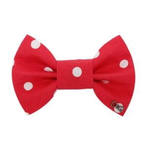 Červený charitatívny psí motýlik s veľkými bodkami Funky Dog Bow Ties, veľ. S