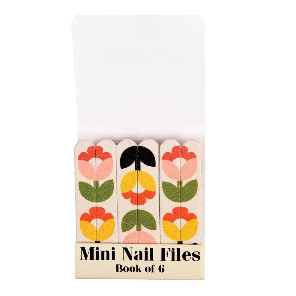 Sada 6 malých pilníkov na nechty Rex London Tulip Bloom