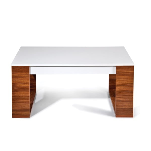 Konferenčný stôl Mega, biely/milas