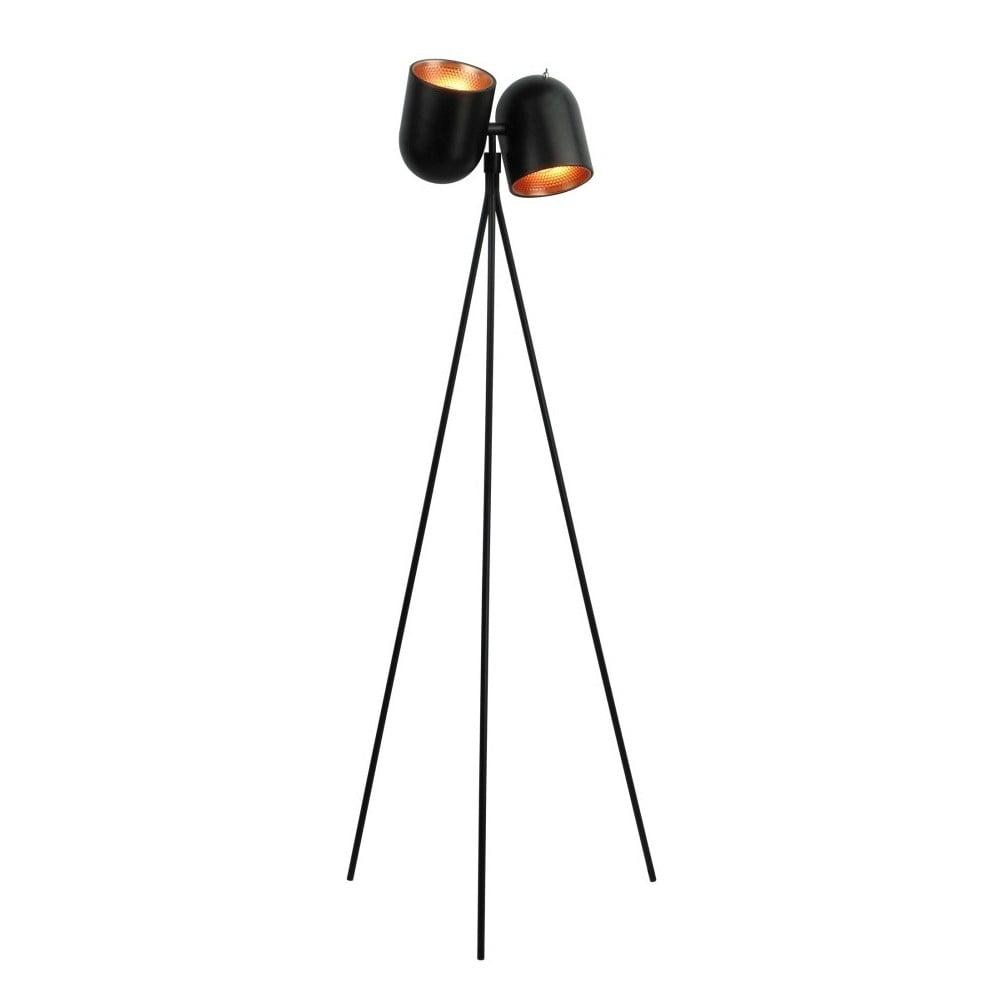 Čierna stojacia lampa Design Twist Dang