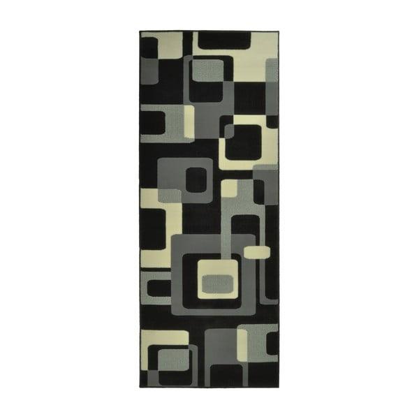 Čierny koberec Hanse Home Hamla Retro, 80x200 cm