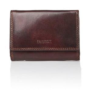 Tmavohnedá pánska peňaženka z teľacej kože Medici of Florence Cirella