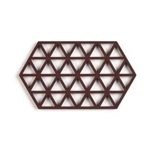 Červenohnedá silikónová podložka pod hrniec Zone Triangles Large