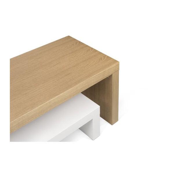 Biely variabilný stolík TemaHome Cliff Oak