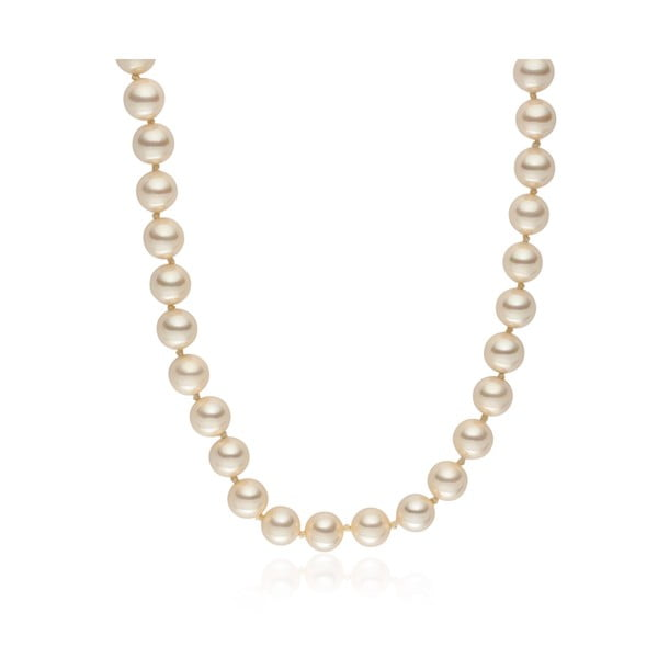 Svetložltý perlový náhrdelník Pearls Of London Mystic, dĺžka 50 cm