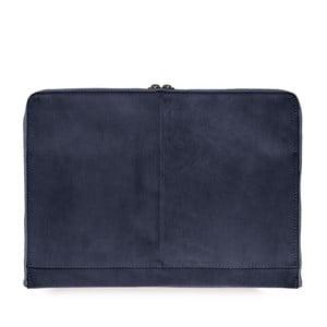 """Tmavomodrý kožený obal na notebook 15"""" O My Bag Zipper"""